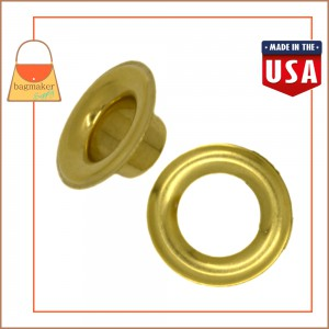 Image of EGR-AA050 : 1/2 Inch Size 4 Grommet, Solid Brass, Brass Finish