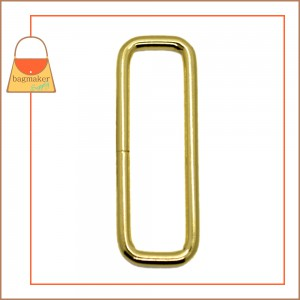 Image of RNG-AA380 2 Inch Wire Formed Rectangle Ring, Not Welded, Brass Finish