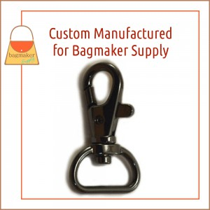 Image of SNP-AA141 : 3/4 Inch Trigger Style Swivel Snap Hook, Black Nickel / Gun Metal Finish