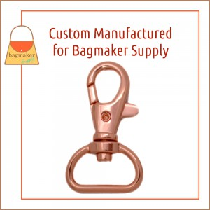 Image of SNP-AA144 : 3/4 Inch Trigger Style Swivel Snap Hook, Rose Gold / Copper Finish