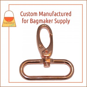 SNP-AA182 1-1/2 Inch Oval Spring Gate Swivel Snap Hook, Rose Gold / Copper Finish
